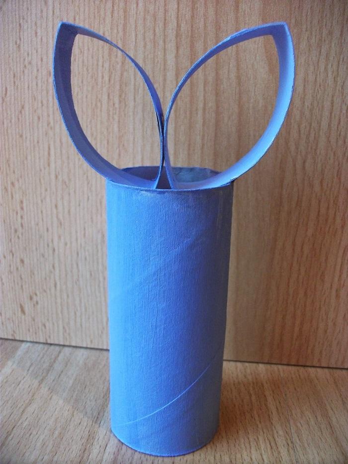 DIY Osterhasen aus Toilettenpapierrollen - Carotellstheworld