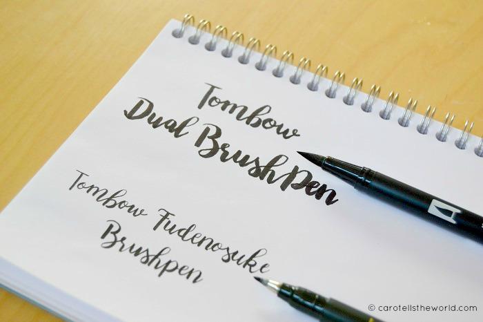 Handlettering, Tombow Brushpen - Carotellstheworld