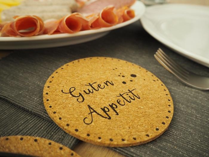 Raclette-Pfännchen-Untersetzer - Guten Appetit 1