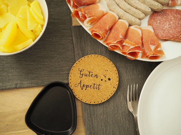 Raclette-Pfännchen-Untersetzer - Guten Appetit